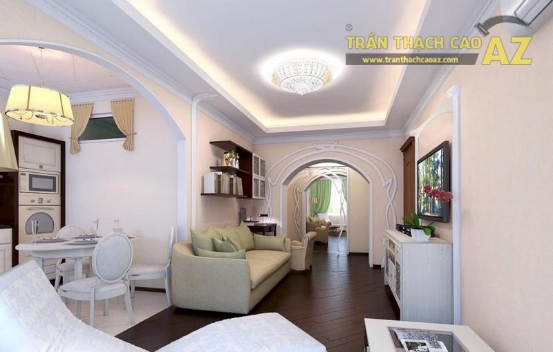 Thiết kế nội thất sang trọng, hiện đại với mẫu trần thạch cao đẹp ấn tượng - 03