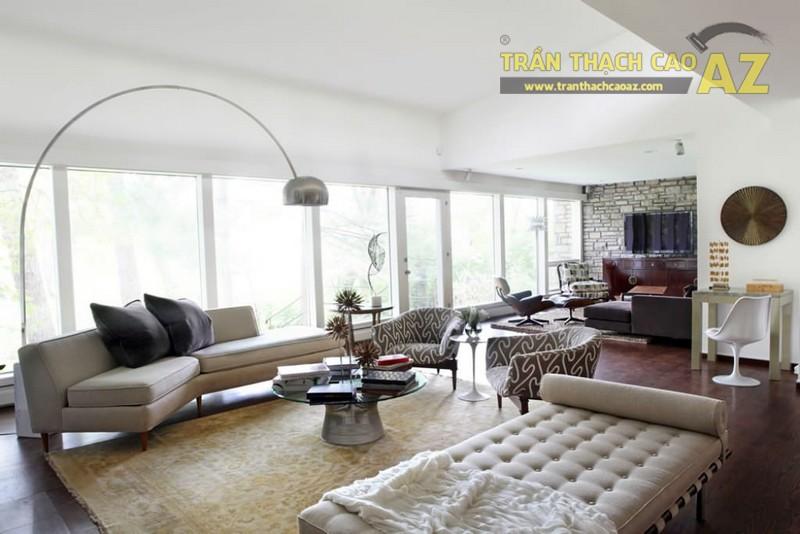 Thiết kế nội thất sang trọng, hiện đại với mẫu trần thạch cao đẹp ấn tượng - 02