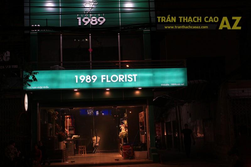 Thiết kế trần thạch cao đơn giản của cửa hàng hoa 1989 FLORIST, 163 Thái Hà - 06