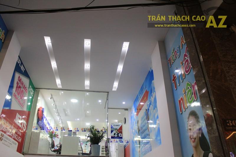 Thiết kế trần thạch cao màu trắng đẹp hiện đại, bắt mắt của AMES, số 30 Nam Đồng - 03