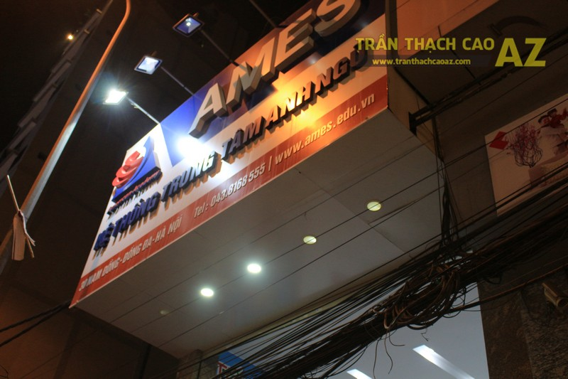 Thiết kế trần thạch cao màu trắng đẹp hiện đại, bắt mắt của AMES, số 30 Nam Đồng - 07