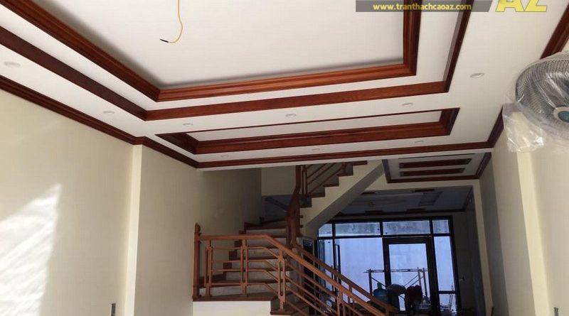 Thiết kế trần thạch cao nhà ống đẹp hiện đại nhà chú Nam, số 27 Nguyễn Thái Học