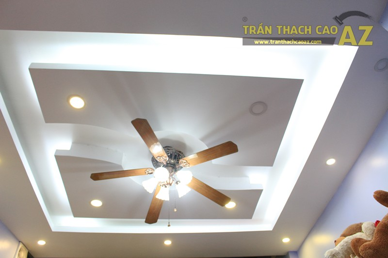Thiết kế trần thạch cao shop nhỏ cực độc đáo của Gấu Bông Land, 346 Thái Hà - 01
