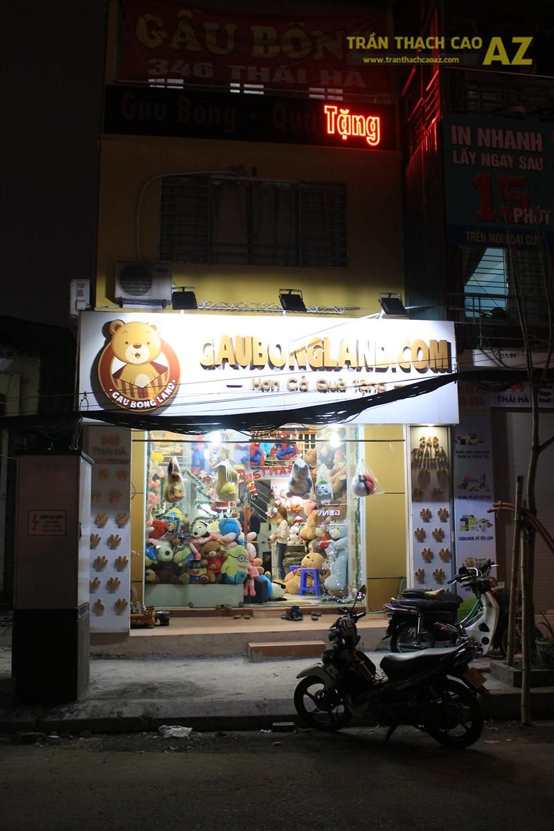 Thiết kế trần thạch cao shop nhỏ cực độc đáo của Gấu Bông Land, 346 Thái Hà - 05