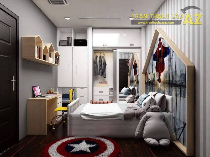 Trần thạch cao căn hộ 1A bán đảo Linh Đàm
