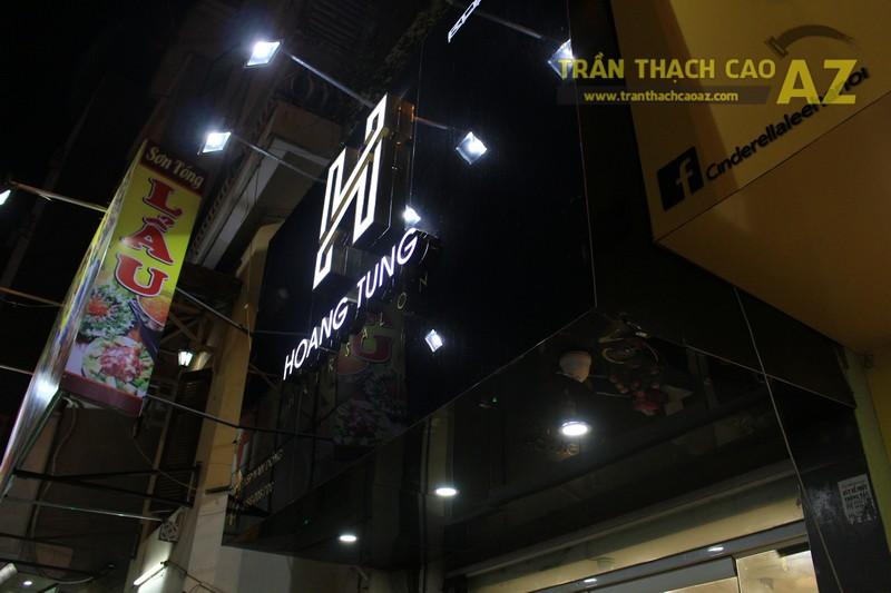 Bàn giao hạng mục trần thạch cao cho Salon tóc Hoàng Tùng, Đống Đa, Hà Nội