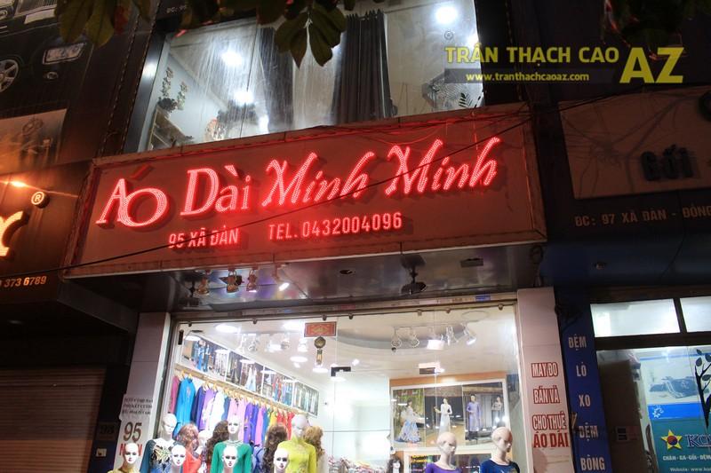 Trần thạch cao giật cấp nhẹ nhàng cho cửa hàng Áo Dài Minh Minh 95 Xã Đàn