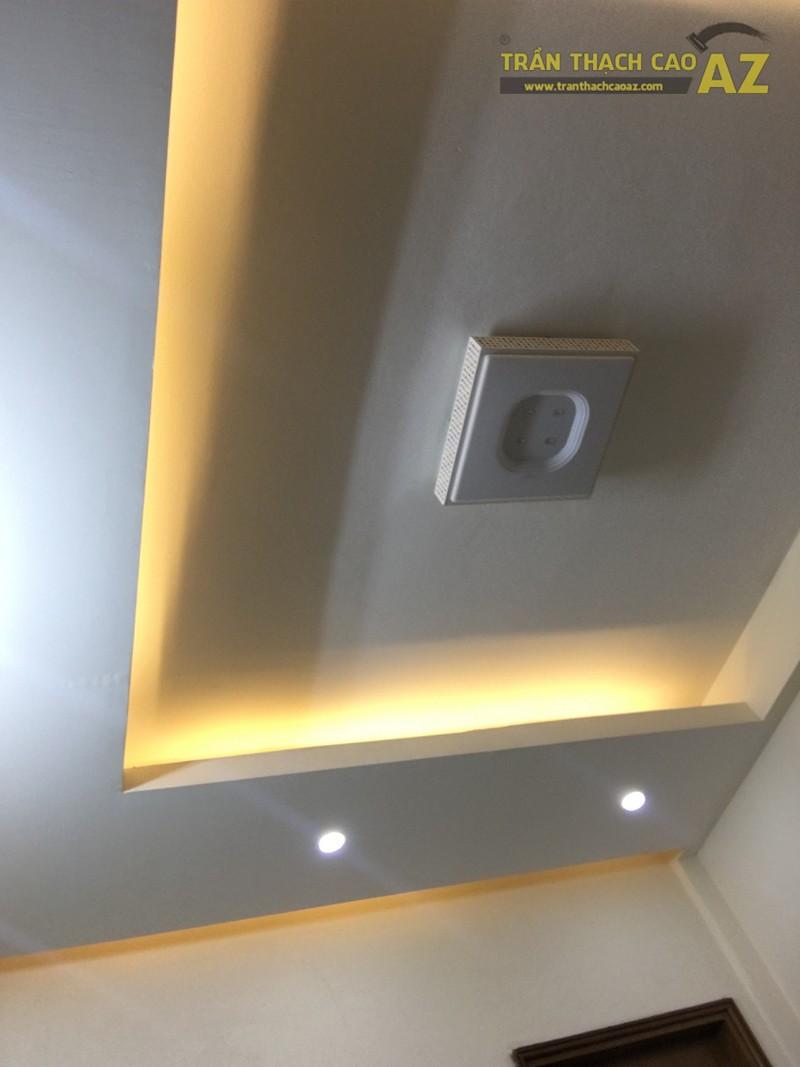 Trần thạch cao chung cư đơn giản, hiện đại của nhà anh Minh, tòa CT5 Định Công - 04