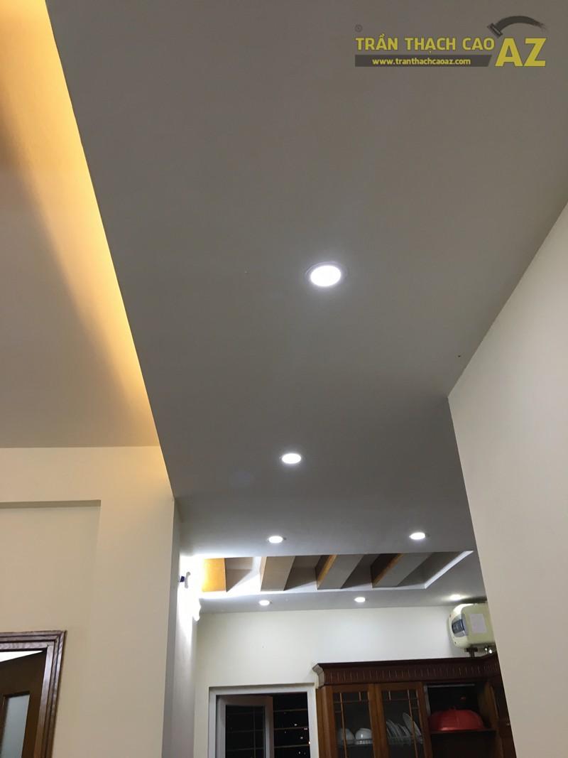 Trần thạch cao chung cư đơn giản, hiện đại của nhà anh Minh, tòa CT5 Định Công - 03