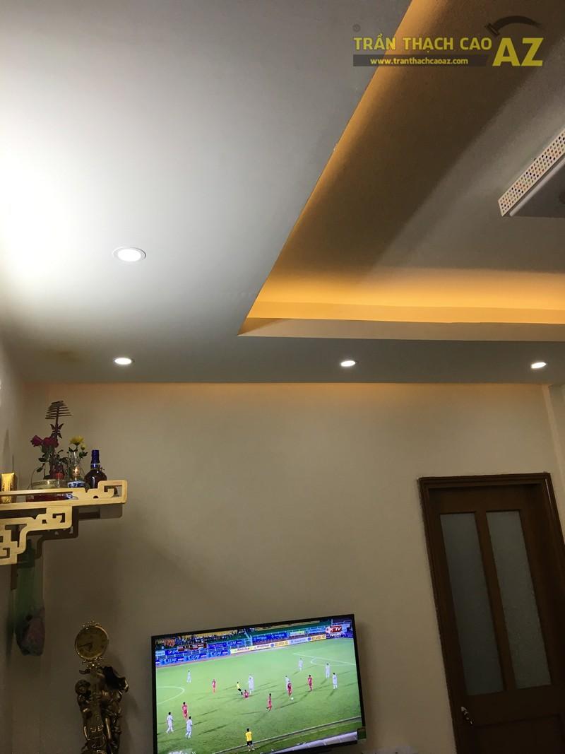 Trần thạch cao chung cư đơn giản, hiện đại của nhà anh Minh, tòa CT5 Định Công - 05