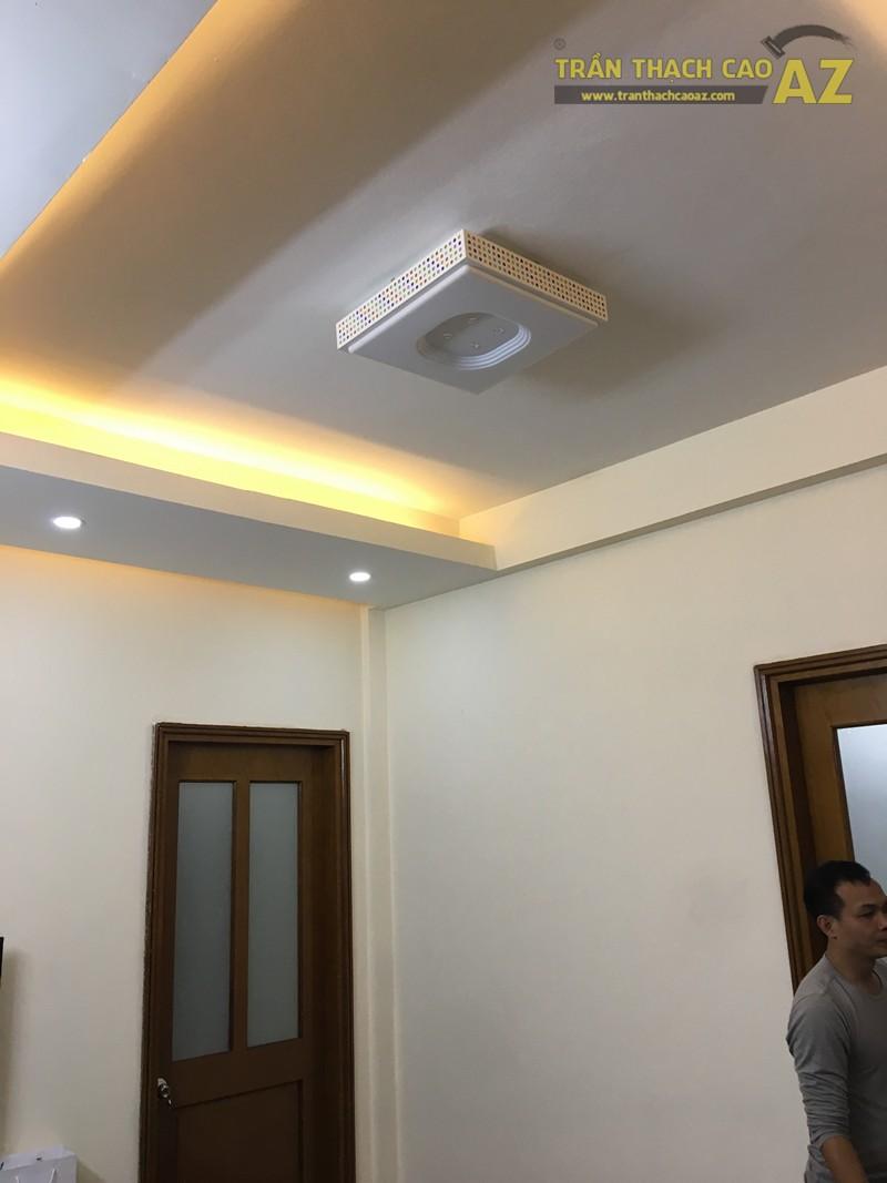 Trần thạch cao chung cư đơn giản, hiện đại của nhà anh Minh, tòa CT5 Định Công - 01