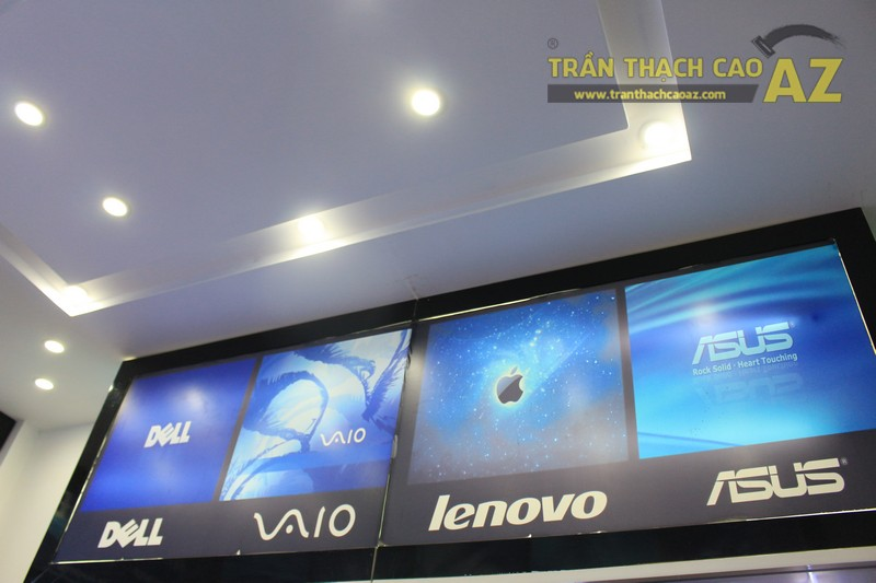 Trần thạch cao đẹp hiện đại với tạo hình trần giật cấp của Máy tính Đức Việt - 02