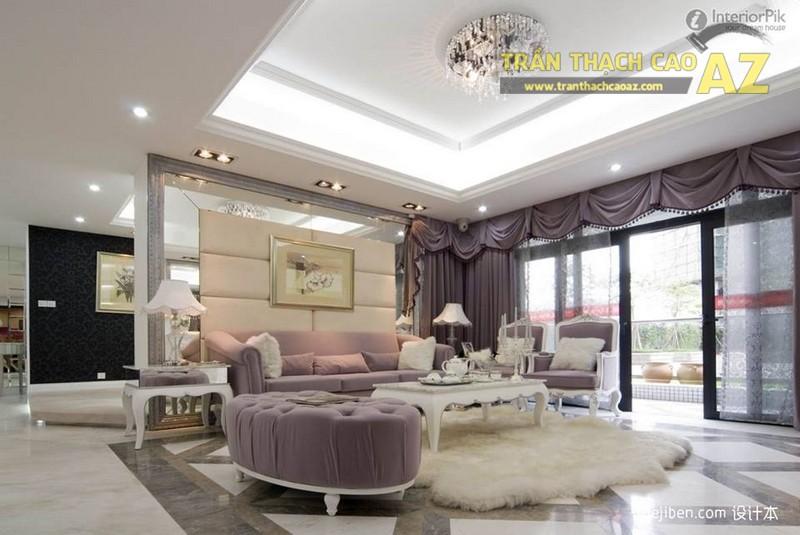 Tuyển tập mẫu trần thạch cao phòng khách đẹp nhất 2017