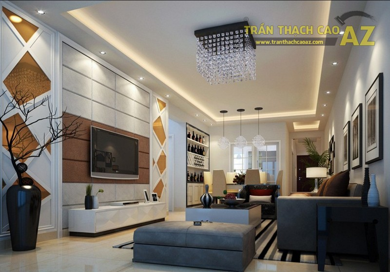 Thiết kế trần thạch cao phù hợp với phong cách thiết kế nội thất