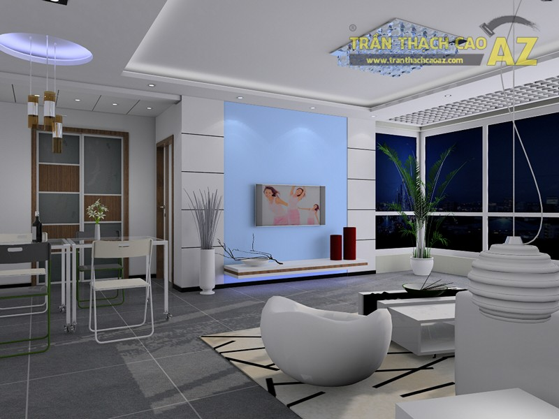 Họa tiết trang trí trần thạch cao phù hợp với các vật dụng trang trí nội thấtHọa tiết trang trí trần thạch cao phù hợp với các vật dụng trang trí nội thất