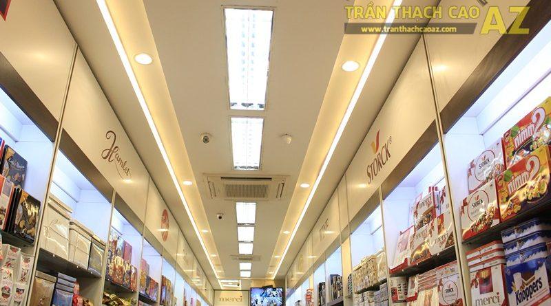 Chọn mẫu trần thạch cao cho shop nhỏ, dài hẹp đẹp hiện đại, sang trọng như Chocolate meric