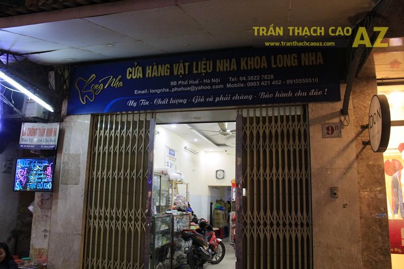 Mẫu trần thạch cao giật cấp của cửa hàng Vật liệu Nha khoa Long Nha, 9B phố Huế - 06
