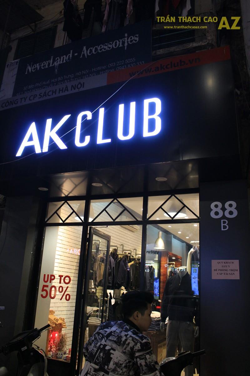 Ngắm mẫu trần thạch cao đơn giản, đep hiện đại của shop AKCLUB, 88B phố Huế - 07