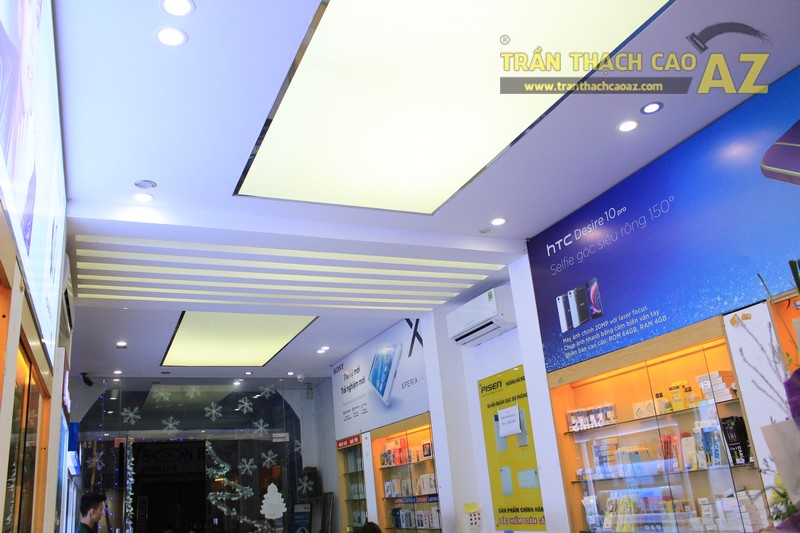 Ngắm mẫu trần thạch cao siêu độc đáo tại cửa hàng Hoàng Hà Mobile 95 Phố Huế