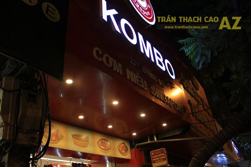 Phối màu trần thạch cao đẹp ấn tượng, bắt mắt như nhà hàng Cơm niêu Singapore, 257 Giảng Võ - 05