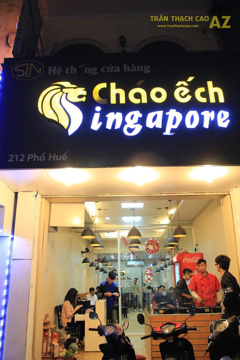 Phối màu trần thạch cao đẹp sang trọng, ấm cúng như Cháo Ếch Singapore, 212 phố Huế - 06