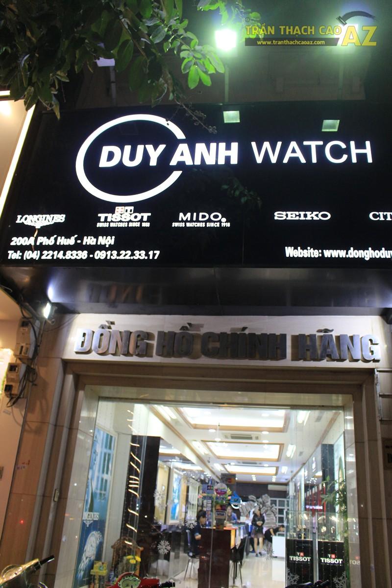 Tạo hình góc cạnh, hiện đại của thiết kế trần thạch cao showroom Duy Anh Watch, 200A phố Huế - 07