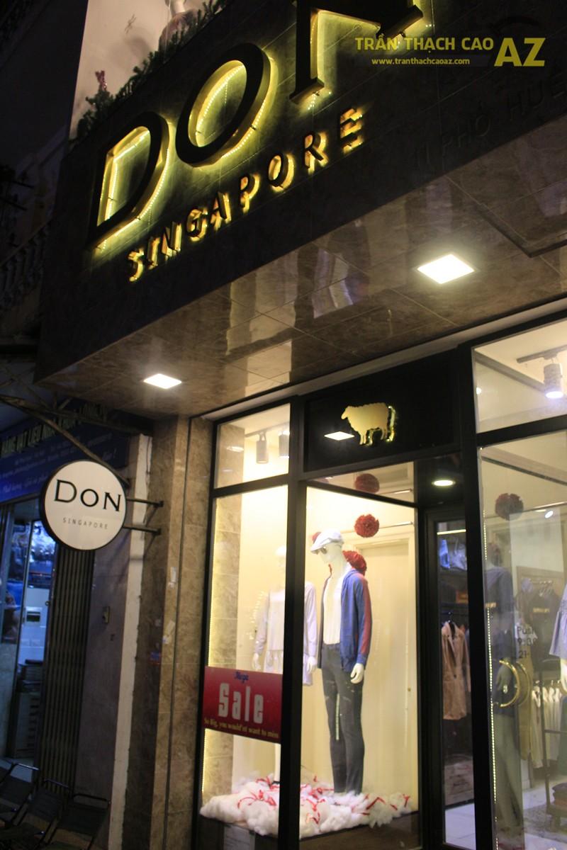 Tạo hình khác biệt, độc đáo của trần thạch cao shop Don Singapore, Hàng Bài - 06