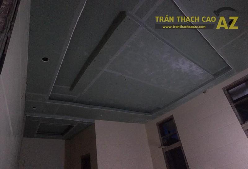Thi công trần thạch cao cho nhà anh Đoàn tại Mai Dịch, Cầu Giấy, Hà Nội