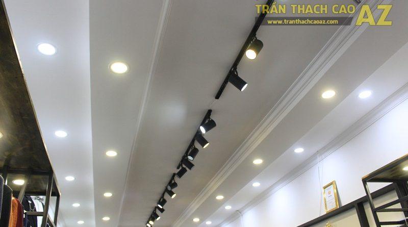Thiết kế trần thạch cao shop thời trang nam hiện đại của Kelbin, 25B phố Huế