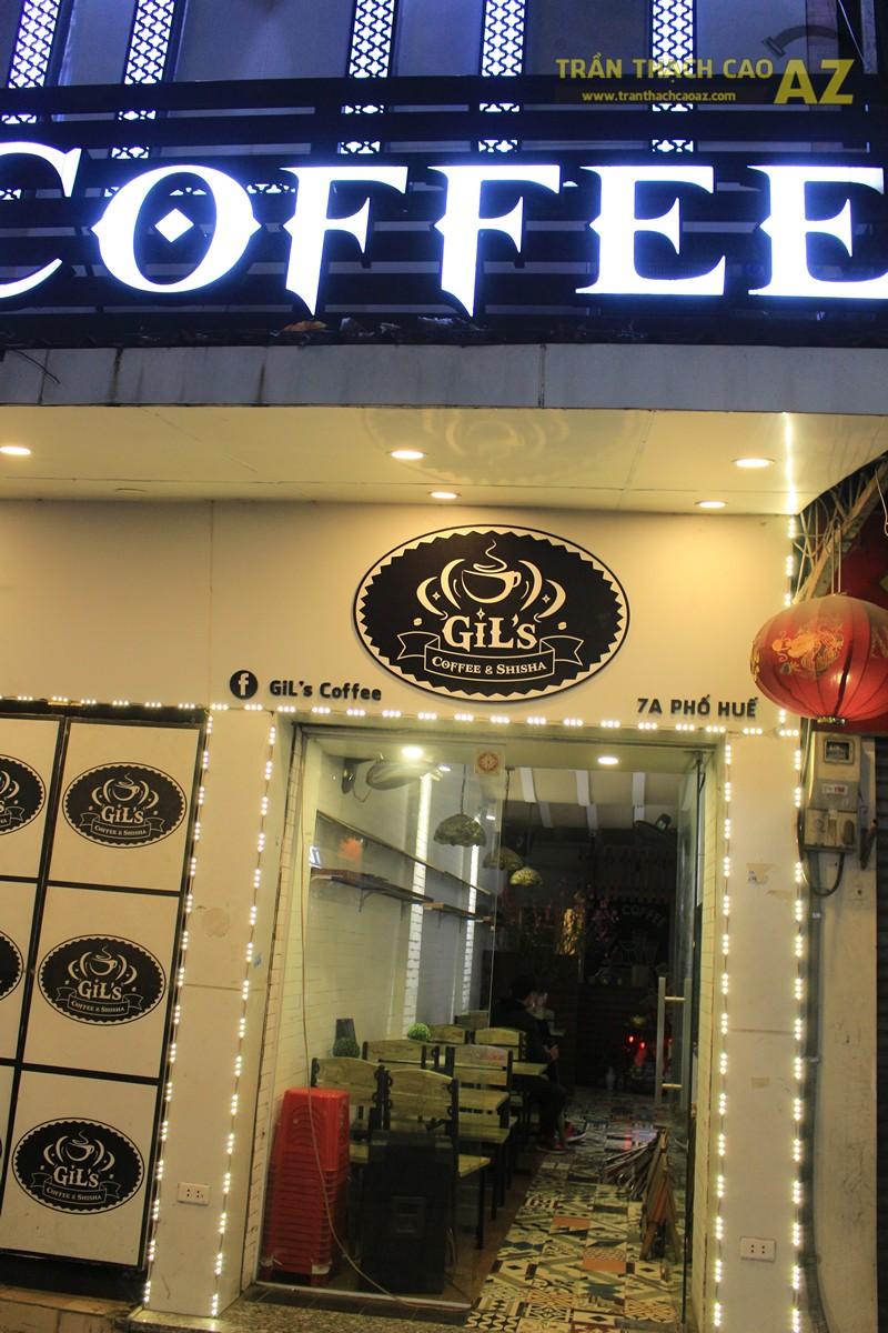 Trần thạch cao quán cafe đẹp ấn tượng với tạo hình sóng khác lạ của Gil's Coffee, 7A phố Huế - 06
