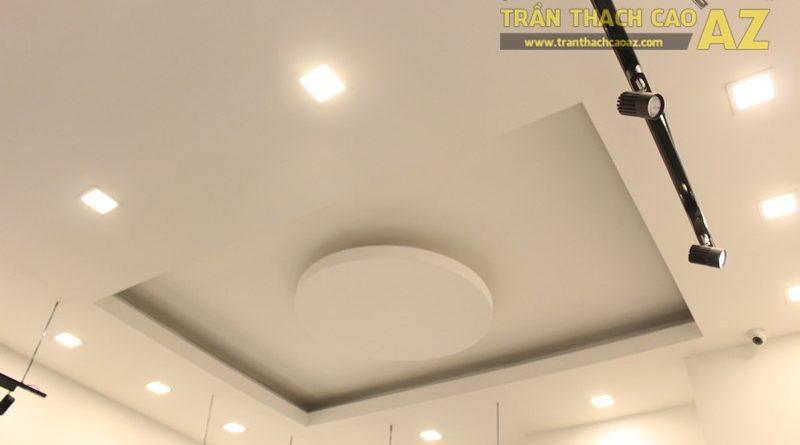 Trần thạch cao shop đẹp đơn giản với tạo hình trần giật cấp của MIZINO, 238 phố Huế