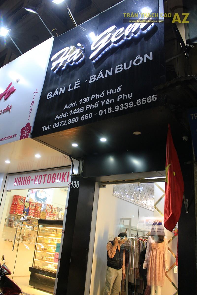 Trang trí shop nhỏ đẹp lung linh với mẫu trần thạch cao đơn giản như Hà Gem, 136 phố Huế - 06