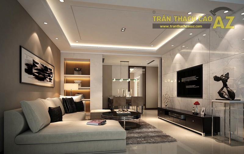 Trần thạch cao giật cấp - kiểu trần thạch cao được sử dụng nhiều nhất trong kiến trúc hiện đại - 03