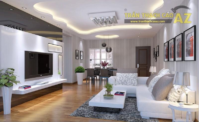 Trần thạch cao giật cấp - kiểu trần thạch cao được sử dụng nhiều nhất trong kiến trúc hiện đại - 01