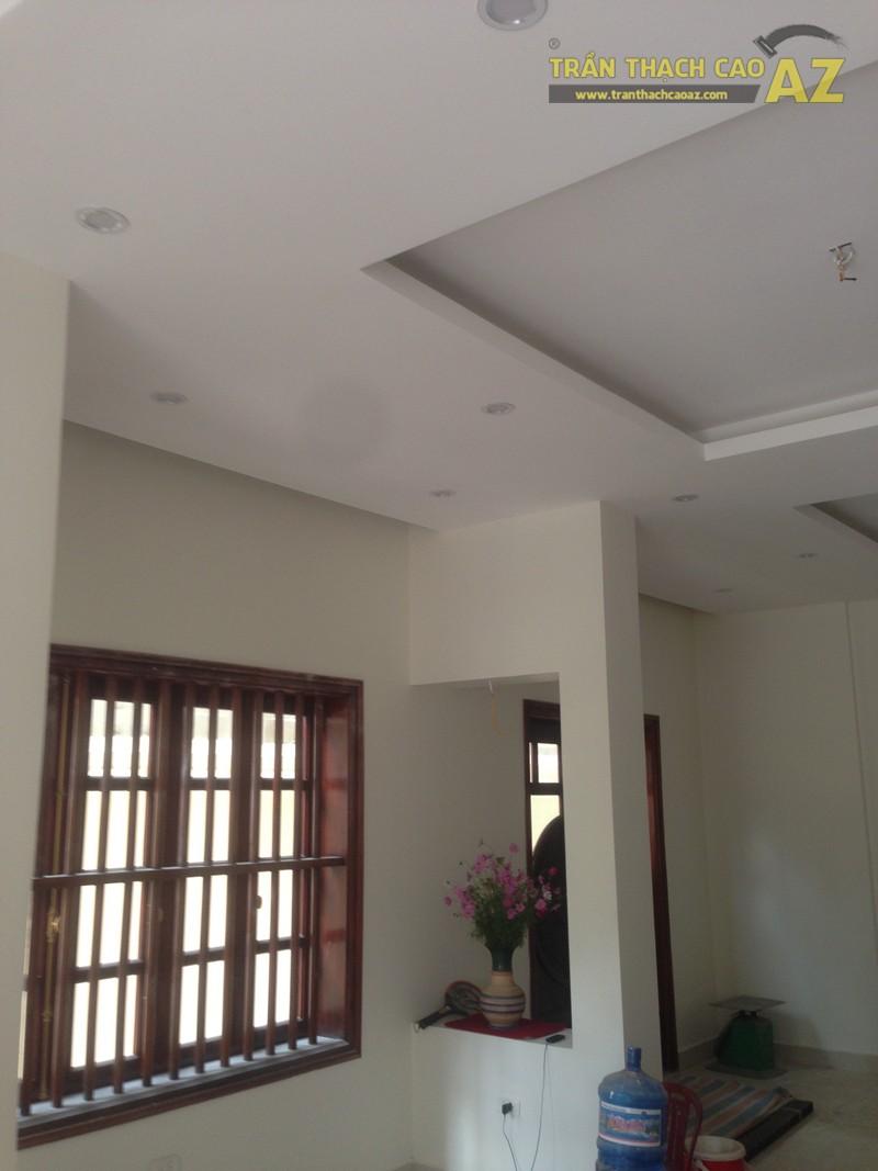 Mẫu trần thạch cao biệt thự đẹp đơn giản, hiện đại nhà anh Hà, khu Tây Nam Linh Đàm - 01
