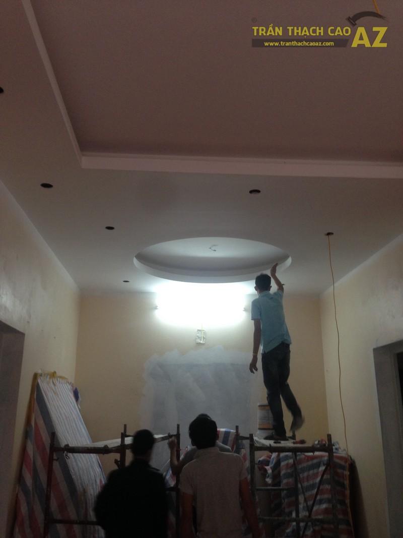 Hoàn thiện 75m2 trần thạch cao đẹp cho nhà chị Dung tại Phú Diễn, Hà Nội