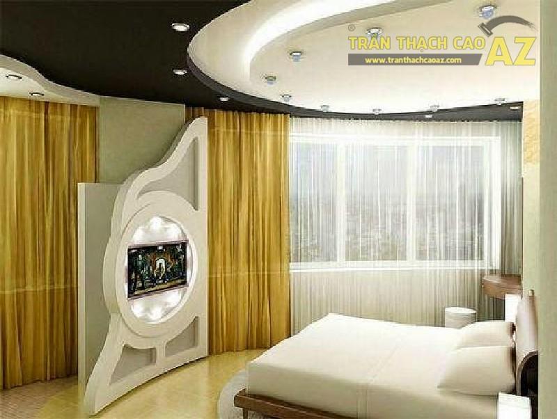 8 mẫu trần thạch cao phòng ngủ phong cách hiện đại