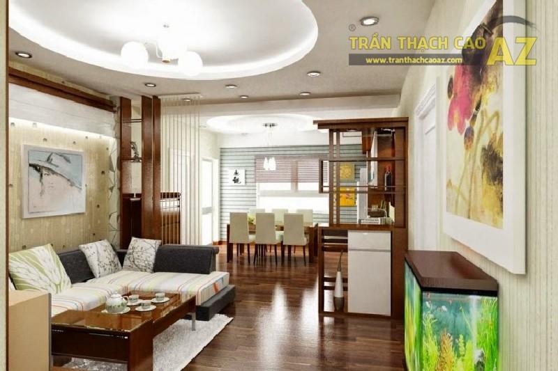 Tư vấn thiết kế trần thạch cao cho phòng khách nhỏ hẹp
