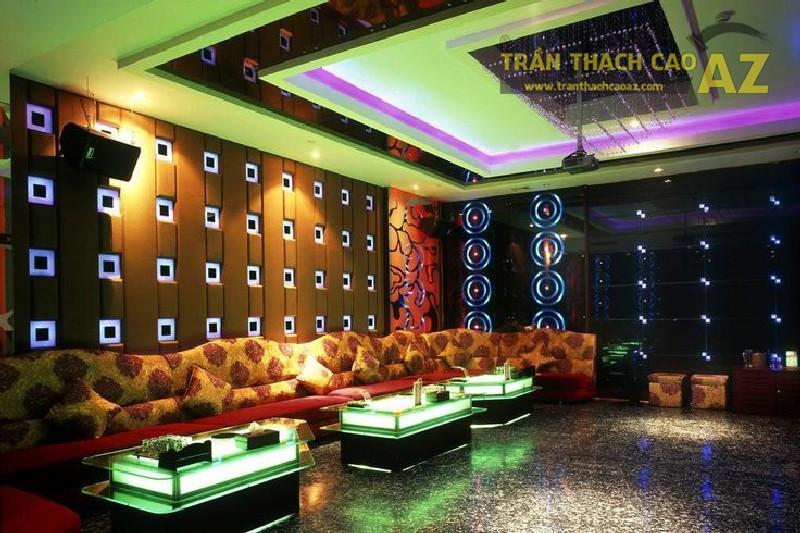 Tư vấn thiết kế trần thạch cao cho phòng karaoke chuẩn VIP