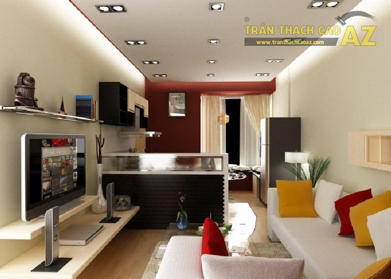 10 mẫu trần thạch cao tuyệt đẹp cho phòng khách chung cư