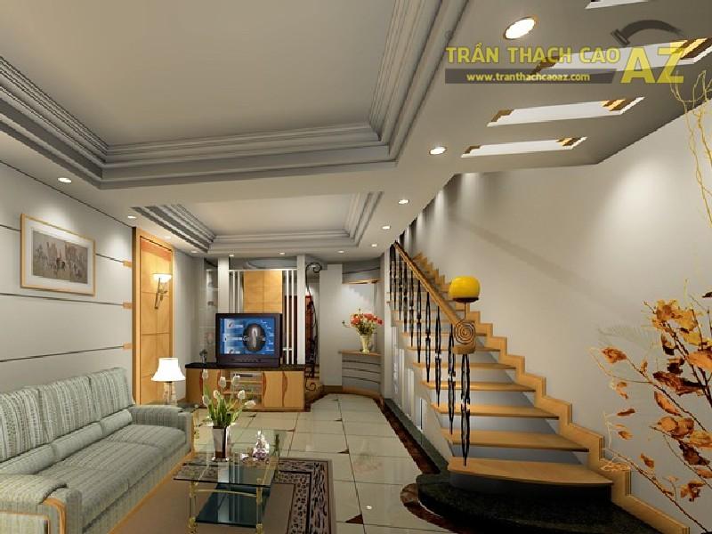 10 ý tưởng thiết kế trần thạch cao giật cấp cho phòng khách hiện đại