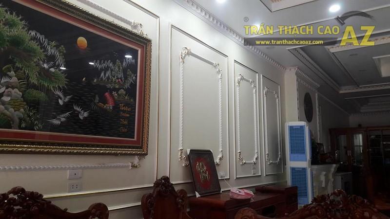 Thi công trần thạch cao, phào chỉ thạch cao cho nhà anh Cường khu biệt thự Lam Hạ, Phủ Lý