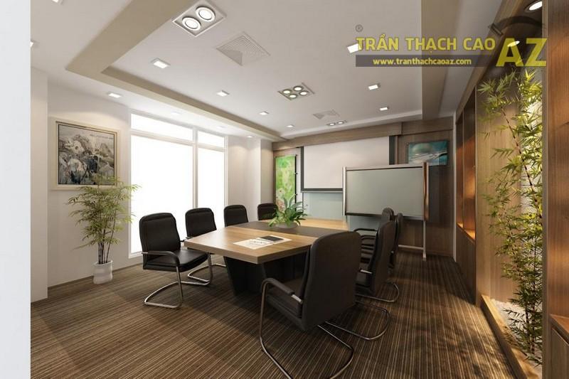 Mẫu trần thạch cao giật cấp cho văn phòng hiện đại
