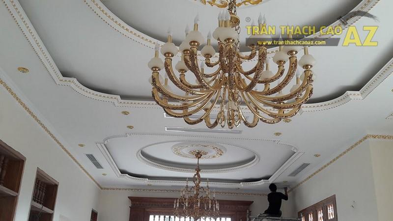 Trần thạch cao cho nhà chú Kiểm khu đô thị Đồng Văn Hà Nam