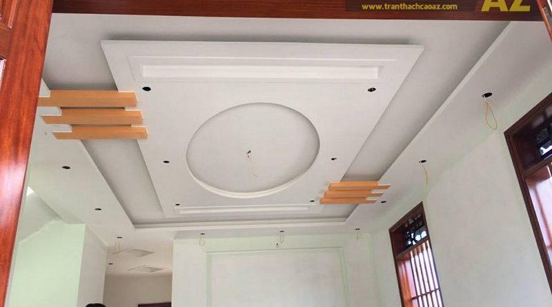 Thi công trần thạch cao cho nhà anh Nam tại ngã 3 Thi Sơn, Kim Bảng, Hà Nam