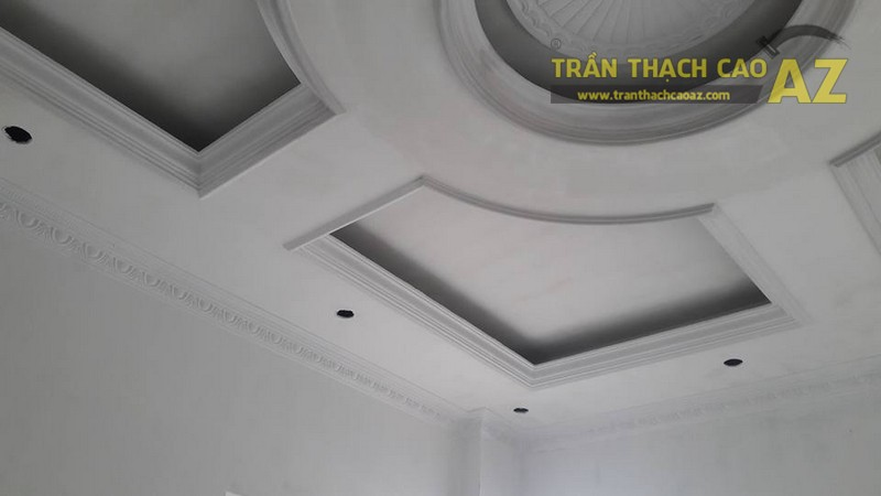 Thi công trần thạch cao cho nhà anh Hải, Thanh Sơn, Kim Bảng, Hà Nam