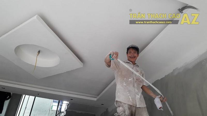 Thi công trần thạch cao cho nhà anh Bảo tại phường Lý Thường Kiệt, Phủ Lý, Hà Nam