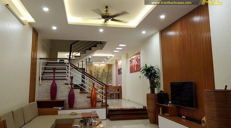 Hoàn thiện và bàn giao hạng mục trần thạch cao cho nhà anh Thanh tại Lê Hồng Phong, Phủ Lý