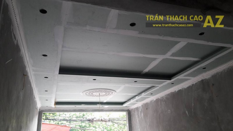 Thi công trần thạch cao và mâm vòm hiện đại cho nhà anh Thái, Tượng Lĩnh, Kim Bảng
