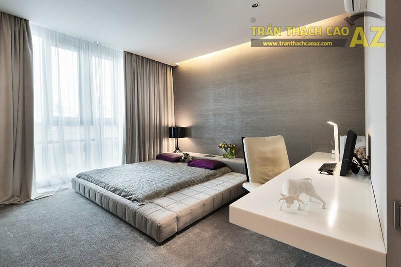 Thiết kế trần thạch cao phòng ngủ vợ chồng đẹp lung linh